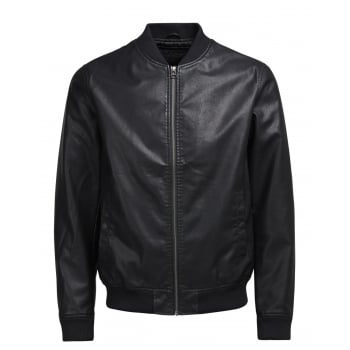 Jack & Jones Jack and Jones Mens Designer Casual Rollout Bomber Jacket Black