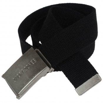 Jack & Jones Jack and Jones Mens New Designer Solid Woven Belt Black