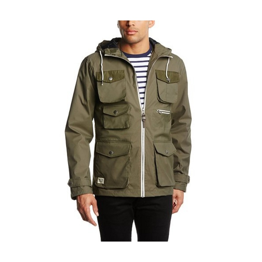 jack and jones men 39 s oryone short parka coat green. Black Bedroom Furniture Sets. Home Design Ideas