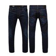 "Jack & Jones 36"" Leg Tim Original Slim Fit Distressed Jeans Medium Blue"