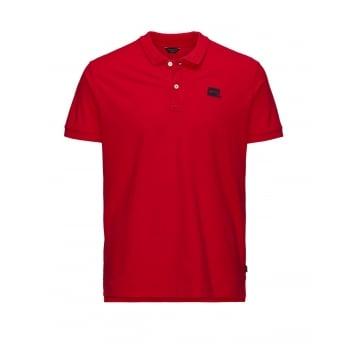 Jack & Jones Basic Designer Polo Shirt Navy Chinese Red