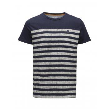 Jack & Jones Casual Beth Striped T Shirt Navy