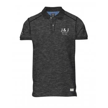 Jack & Jones Casual Branded Moss Polo Shirt Dark Grey