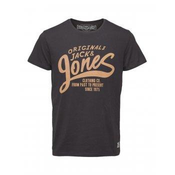Jack & Jones Casual Designer  Raffa Classic T Shirt Raven
