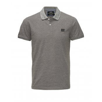 Jack & Jones Casual Part Polo Shirt Grey Melange