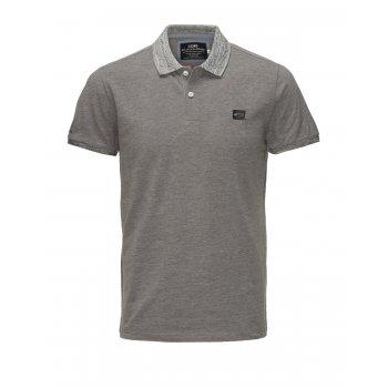 Jack & Jones Casual Part Polo Shirt Grey Melange