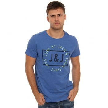 Jack & Jones Casual Tag Detailed T Shirt Turkish Sea