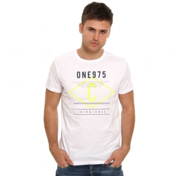 Jack & Jones Casual Tag Detailed T Shirt White
