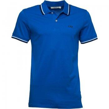 Jack & Jones Contrast Slim Fit Jersey Polo Shirt Directoire Blue