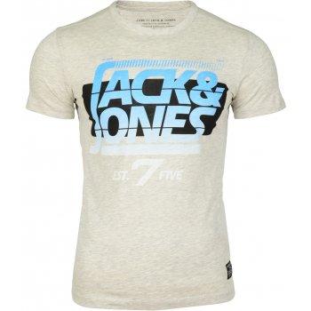 Jack & Jones Designer Retro Sport Crew Neck T Shirt Treated White