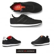 Jack & Jones Fayette Mesh Trainers Anthracite Black