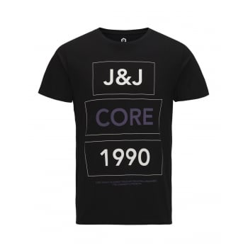 Jack & Jones Home Designer Crew Neck T-Shirt Black