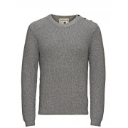 Jack & Jones Knitted Brody Crew Neck Jumper Light Grey
