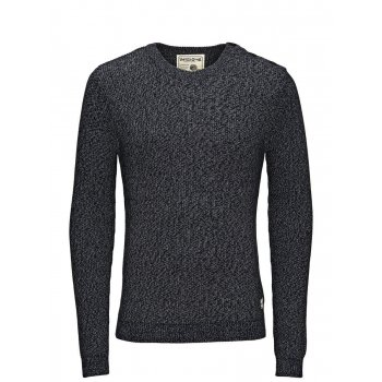 Jack & Jones Knitted Brody Crew Neck Jumper Total Eclipse