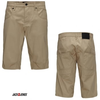 Jack & Jones Mens Stan Lester Long Chino's Shorts Cornstalk