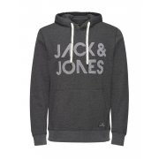 Jack & Jones Scale Branded Hooded Top Dark Grey