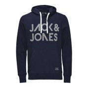 Jack & Jones Scale Branded Hooded Top Navy