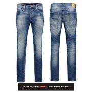 """Jack & Jones Tim 36"""" Leg 984 Original Slim Fit Jeans Mid Used Look"""