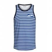 Jack & Jons Mens Designer Striped Branded Craig Tank Vest Victoria Blue