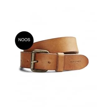 Jack & Jones Jakob Buckle Casual Leather Trousers Jean Belt Mocha