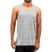 Jack & Jones Jcoair Mens Branded Fresh Tank Vest Light Grey Melange