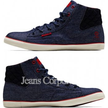 Jack & Jones JJ Cardiff Navy Denim Hi-Tops Trainers