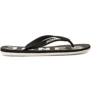 Jack & Jones Logo Pack Rubber Branded Flip Flops Anthracite