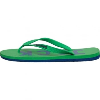 Jack & Jones Logo Pack Rubber Branded Flip Flops Fern Green