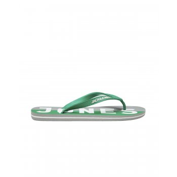 Jack & Jones Logo Pack Rubber Branded Flip Flops Pepper Green