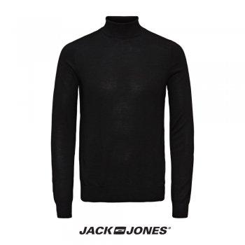 Jack & Jones Mark Knit Slim Fit Roll Neck Black
