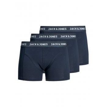 Jack & Jones Mens 3 Pack JACANTHONY Boxer Trunks Shorts Blue Night