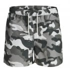 Jack & Jones Mens Army Camoflage New Cali Swim Shorts Charcoal