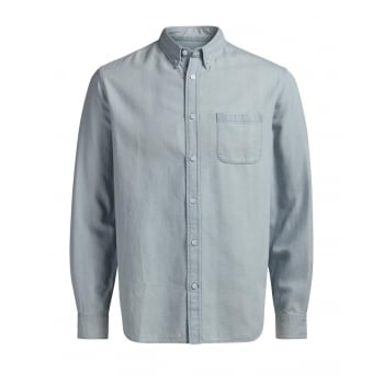 Jack & Jones Mens Casual Designer Denim Shirt Light Wash