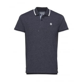 Jack & Jones Mens Casual Duct Slim Fit Polo Shirts Navy