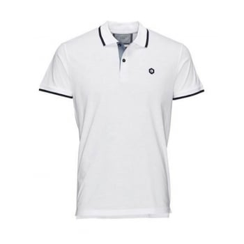 Jack & Jones Mens Casual Duct Slim Fit Polo Shirts White