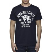 Jack & Jones Mens Casual Raffa Flag Designer T Shirt Dress Blue