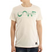 Mens Casual Shine Crew Neck T-Shirt Lilly White