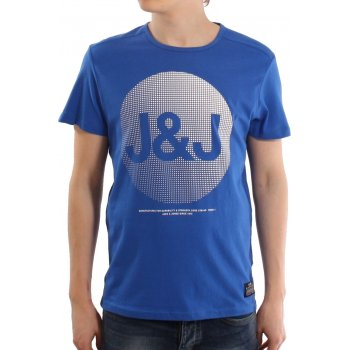 Jack & Jones Mens Casual Shine Crew Neck T-Shirt Turkish Sea