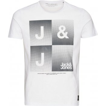 Jack & Jones Mens Casual Shine Crew Neck T-Shirt White
