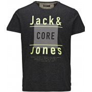 Jack & Jones Mens Casual Tag Detailed T Shirt Black