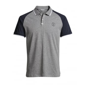 Jack & Jones Mens Casual Witt Slim Fit Polo Shirts Grey Melange
