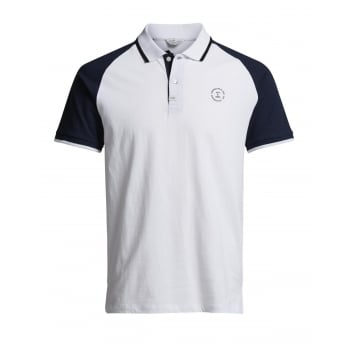 Jack & Jones Mens Casual Witt Slim Fit Polo Shirts White