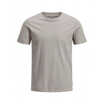 Jack & Jones Mens Crew Neck Slim Fit T-shirt Plain Lycra Cotton Tee Crockery