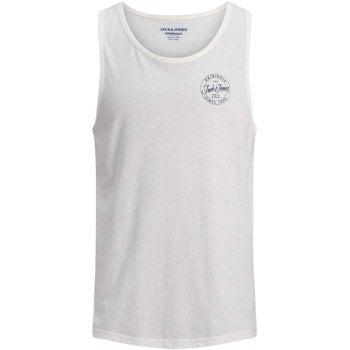 Jack & Jones Mens Designer Branded Really Tank Vest Total Cloud Dancer