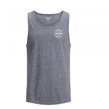 Jack & Jones Mens Designer Branded Really Tank Vest Total Eclipse