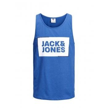 Jack & Jones Mens Designer Branded Regular Fit Tukano Tank Vest Classic Blue