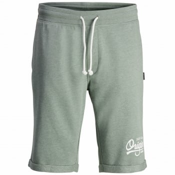 Jack & Jones Mens Holting Jogger Sweat Shorts Lily Pad