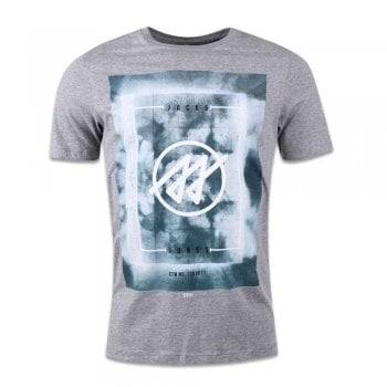 Jack & Jones Men's Jcolion Tee Ss Crew Neck T-Shirt Grey