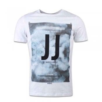 Jack & Jones Men's Jcolion Tee Ss Crew Neck T-Shirt White