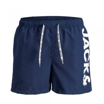 Jack & Jones Mens New Branded JJIARUBA Swim Shorts Navy Blazer